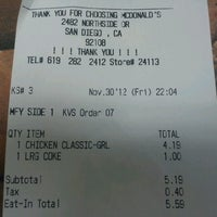 Photo taken at McDonald's by Ronald's M. on 12/1/2012