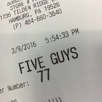 Photo taken at Five Guys by Leah T. on 3/9/2016