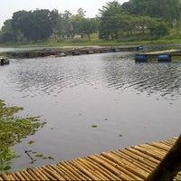 Photo taken at Situ Sawangan by Sukria C. on 9/28/2012