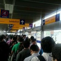Photo taken at Estación Tomás Valle - Metropolitano by Enrique L. on 12/13/2012