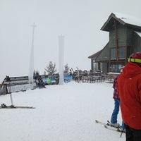 Photo taken at The Sundeck at Aspen Mountain by Jason A. on 3/24/2013