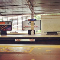 Photo taken at RapidKL Hang Tuah (ST3) LRT Station by Dida D. on 3/29/2013