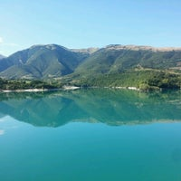 Photo taken at Lago di Fiastra by Andrea C. on 8/18/2016