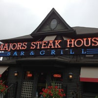 Photo taken at Majors Steak House by Terri K. on 6/30/2013