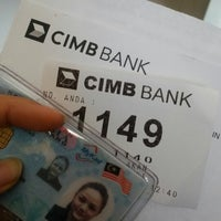 Photo taken at CIMB Bank by Adura A. M. on 1/30/2014