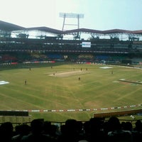 Photo taken at Jawaharlal Nehru Stadium by Jacob M. on 1/22/2012