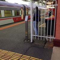 Photo taken at Swan Hill Train Station by Nik Mohamad Hafiz A. on 2/22/2014