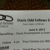 Photo taken at Davis Odd Fellows Lodge #169 by Stewart S. on 6/9/2013
