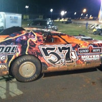 Photo taken at The Dirt Track at Charlotte Motor Speedway by Chris D. on 10/11/2012