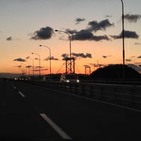 Photo taken at 大鳴門橋 by lyusuke on 1/4/2013