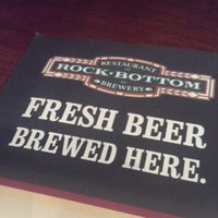 Photo taken at Rock Bottom Restaurant & Brewery by Keith R. on 10/20/2012