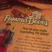 Photo taken at Famous Dave's by Keith R. on 1/3/2013