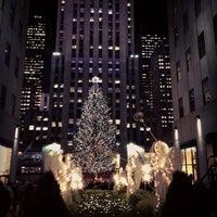Photo taken at Rockefeller Center Christmas Tree by Cari on 12/11/2012