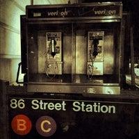 Photo taken at MTA Subway - 86th St (B/C) by Cari on 10/18/2012