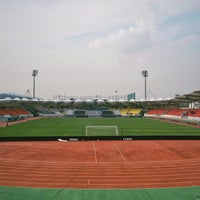 Photo taken at Tancheon Sports Complex Stadium by TaeJun Y. on 9/10/2016