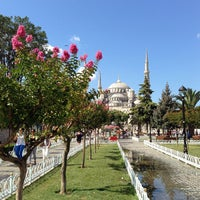 Photo taken at Sultanahmet Square by Serra S. on 7/22/2013