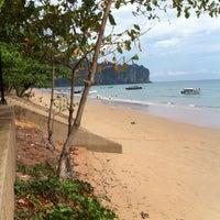 Photo taken at Ao Nang Beach by Harmizi R. on 4/12/2013