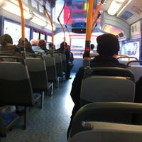 Photo taken at TfL Bus 8 by Erika O. on 12/1/2012