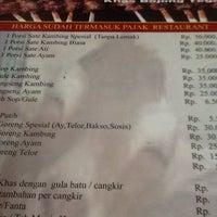 Photo taken at Sate Kambing Bhaliboel by [Roy N. on 9/24/2014