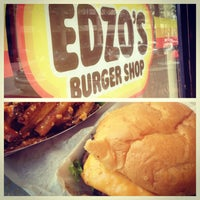 Photo taken at Edzo's Burger Shop by Stefania R. on 5/21/2013