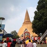 Photo taken at Wat Phra Pathom Chedi by Narisara D. on 2/10/2013
