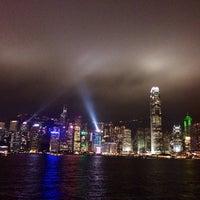Photo taken at Symphony of Lights by zhuang i. on 2/24/2014