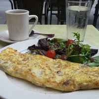 Photo taken at Brasserie Creperie by Lori M. on 8/2/2015