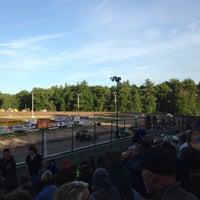 Photo taken at Albany-Saratoga Speedway by Amanda C. on 6/20/2014