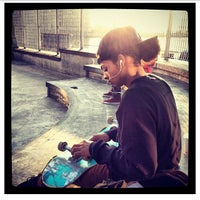 Photo taken at Tribeca Skate Park by HOMAGE B. on 12/4/2012