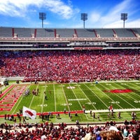 Photo taken at Donald W Reynolds Razorback Stadium by Alex S. on 4/20/2013