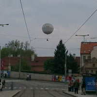 Photo taken at Malostranská (tram) by Elena P. on 5/5/2013