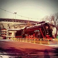Photo taken at Стадион «Локомотив» by Oksana P. on 12/21/2012