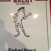 Photo taken at Salut Bar Americain by Sarah M. on 2/3/2013