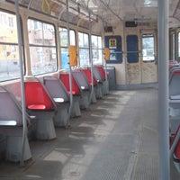 Photo taken at Průběžná (tram) by Oto S. on 4/27/2013