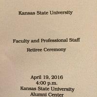 Photo taken at K-State Alumni Center by David O. on 4/19/2016