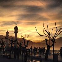 Photo taken at Paseo de La Concha by Jl P. on 12/28/2012