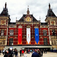 Photo taken at Amsterdam Centraal Railway Station by Frederik S. on 4/24/2013
