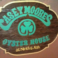 Photo taken at Casey Moore's Oyster House by Patrick on 9/26/2012