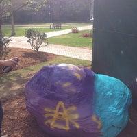 Photo taken at Boston University Greek Rock by Dana F. on 4/29/2013