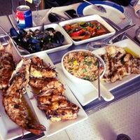 Photo taken at Al Sanbok Restaurant by Hadeel A. on 10/31/2012
