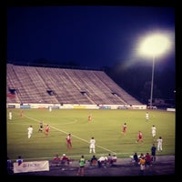 Photo taken at City Stadium by Tyler W. on 8/25/2013