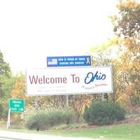 Photo taken at Ohio / Indiana - State Line by P. Scott N. on 10/6/2012