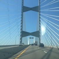Photo taken at Napoleon Bonaparte Broward (Dames Point) Bridge by Millie Q. on 5/15/2013