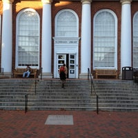 Photo taken at Alderman Library by Garrett B. on 11/2/2012