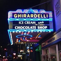 Photo taken at Ghirardelli Ice Cream & Chocolate Shop by Bobby P. on 12/6/2012