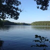 Photo taken at Lake Johnson by Ryan O. on 6/11/2013