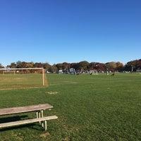 Photo taken at Baymen Soccer Fields by Steve B. on 11/6/2016