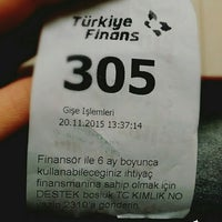 Photo taken at Turkiye Finans Katilim Bankasi by Gamze Ö. on 11/20/2015