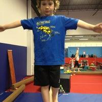 Photo taken at Kingdom Gymnastics by Erica P. on 3/29/2013