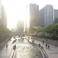 Photo taken at 광통교 by Nathan K. on 9/17/2013